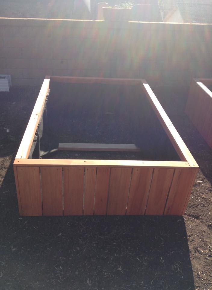 redwood raised bed garden planters