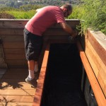 Malibu, CA - Custom Redwood Planter Installed