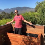 Malibu, CA - Custom Redwood Deck Planter