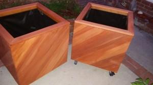 Curtis Custom Redwood Planters